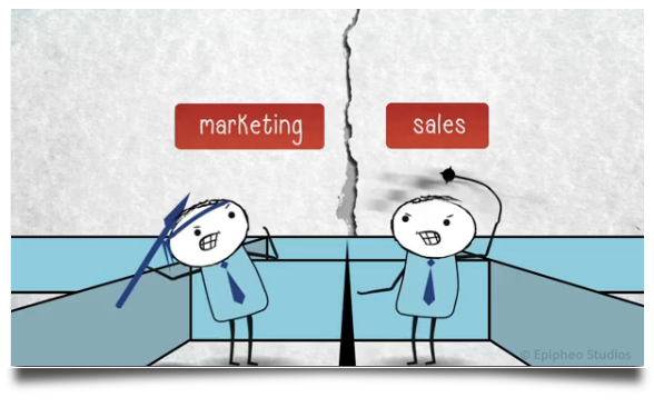 marketing vs sales department